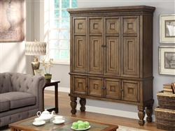 Aria 65 Inch 2 Piece Entertainment Armoire In Antique