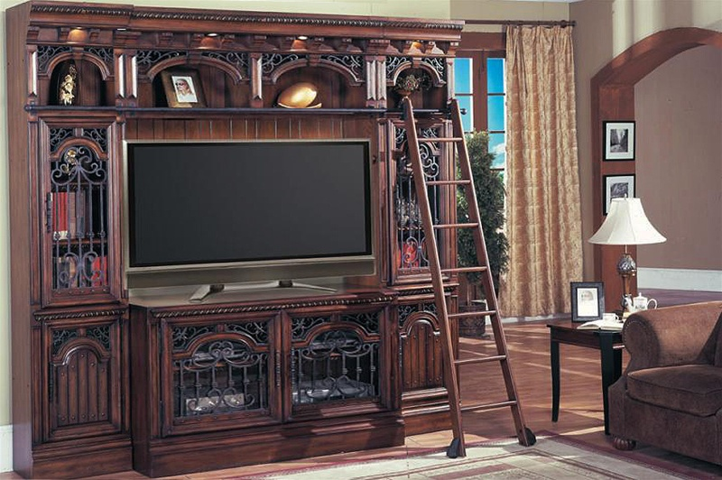 Barcelona 4 Piece 60 Inch Tv Entertainment Library Space