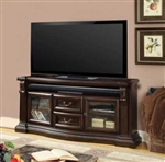 Bella 67 Inch TV Console in Antique Vintage Dark Almond Finish by Parker House - BEL-705
