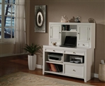 Boca 47-Inch Credenza & Hutch in Cottage White Finish by Parker House - BOC-347CH