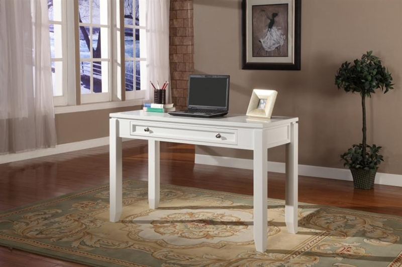 Boca 47 Inch Writing Desk In Cottage White Finish By Parker House Boc 347d