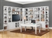 Boca 11 Piece TV Library Wall in Cottage White Finish by Parker House - BOC-411-11