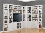 Boca 9 Piece TV Library Wall in Cottage White Finish by Parker House - BOC-411-9