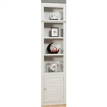 Boca 22 Inch Open Top Bookcase in Cottage White Finish by Parker House - BOC-420