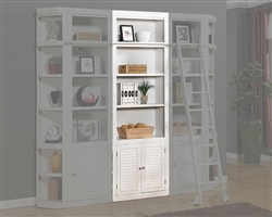 Boca 32 Inch Open Top Bookcase in Cottage White Finish by Parker House - BOC-430