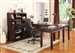 Boston 6 Piece Home Office Set in Merlot Finish by Parker House - BOS-347C-6