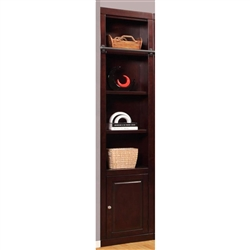 Boston 22 Inch Open Top Bookcase in Merlot Finish by Parker House - BOS-420