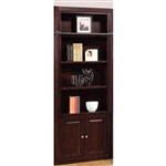 Boston 32 Inch Open Top Bookcase in Merlot Finish by Parker House - BOS-430