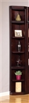Boston Outside Corner Bookcase in Merlot Finish by Parker House - BOS-450