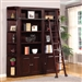 Boston 4 Piece Bookcase Library Wall in Merlot Finish by Parker House - BOS-450-4