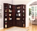 Boston 5 Piece Corner Bookcase in Merlot Finish by Parker House - BOS-456-5