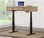 Brighton 48 Inch Power Lift Desk 29 1/2 to 55 Inch in Antique Vintage Muslin Finish by Parker House - BRI-248-2