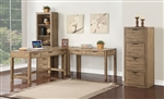 Brighton 3 Piece Home Office Set in Antique Vintage Muslin Finish by Parker House - BRI-3-DESK