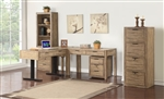Brighton 4 Piece Home Office Set in Antique Vintage Muslin Finish by Parker House - BRI-L48