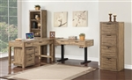 Brighton 4 Piece Home Office Set in Antique Vintage Muslin Finish by Parker House - BRI-L60