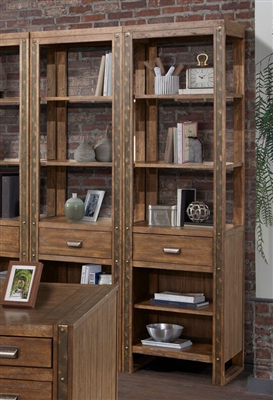 Brooklyn Two Bookcases in Antique Burnished Pine Finish by Parker House - BRO-250P