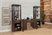 Brooklyn 3 Piece Home Office Set in Antique Burnished Pine Finish by Parker House - BRO-485-2-3