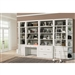 Catalina 8 Piece Home Office Bookcase Library Wall in Cottage White Finish by Parker House - CAT-420-8