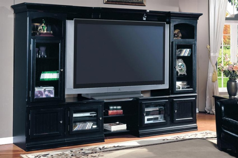 Superb Copper Canyon 4 Piece 48 72 Inch TV X Pandable Entertainment Wall In  Vintage Black Finish By ... Design
