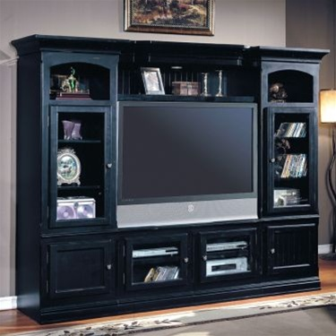 Perfect Copper Canyon 4 Piece 48 72 Inch TV X Pandable Entertainment Wall In  Vintage Black Finish By Parker House   CC100 4RX Awesome Design