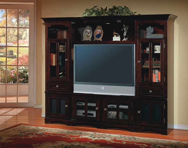 Cherry Hill 4 Piece Wall Unit In Merlot Finish By Parker House Che100 4rx