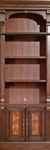 Corsica 32 Inch Open Top Bookcase in Antique Vintage Dark Chocolate Finish by Parker House - COR-430