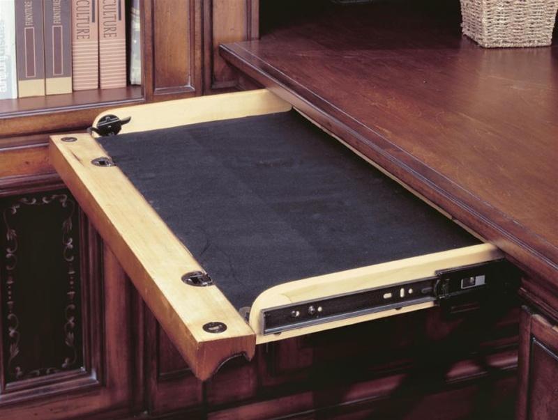 DaVinci Double Pedestal Executive Desk In Dark Chestnut Finish By Parker  House   DAV 480 3