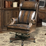 Prestige Office Chair in Black and Brown Two Tone Leather by Parker House DC-105-BB