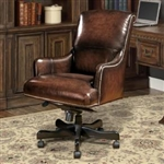 Prestige Office Chair in Brown Two Tone Leather by Parker House DC-106-BR