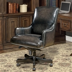 Prestige Office Chair in Smoke Two Tone Leather by Parker House DC-106-SM