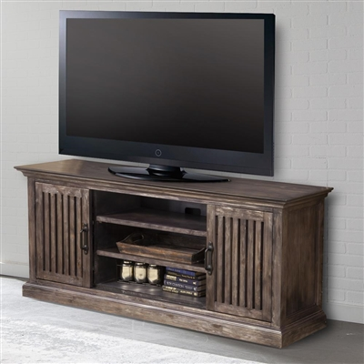 Gatehouse 68 Inch TV Console in Washed Iron Finish by Parker House - GAT#68