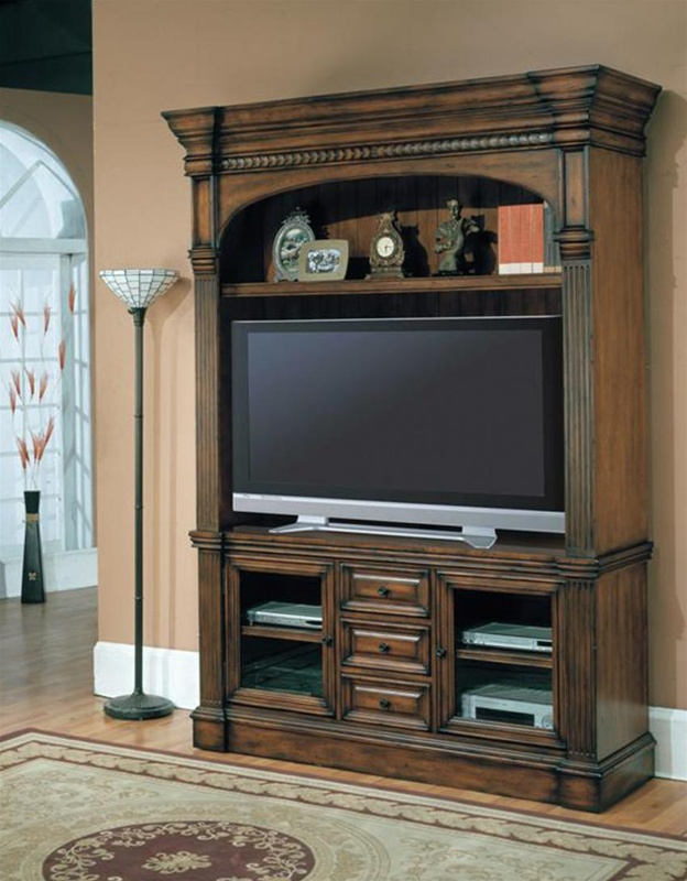 Good 60 Tv Entertainment Center Part - 2: Genoa 60-Inch TV 3Pc Entertainment Center In Antique Vintage Dark Pecan  Finish By Parker House - GEN-600-3EC
