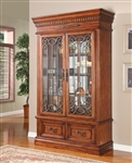 Grand Manor Granada 2 Piece Display Wall in Antique Vintage Walnut Finish by Parker House - GGRA-8100-2