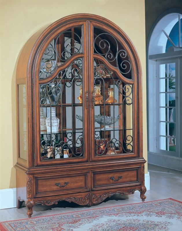 Grand Manor Granada 4 Piece Display Wall In Antique Vintage Walnut Finish  By Parker House   GGRA 8100 4