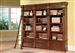 Grand Manor Granada 3 Piece Museum Bookcase in Antique Vintage Walnut Finish by Parker House - GGRA-9030-3