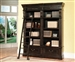Grand Manor Palazzo 2 Piece Museum Bookcase in Vintage Burnished Black Finish by Parker House - GPAL-9030-2
