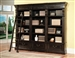 Grand Manor Palazzo 3 Piece Museum Bookcase in Vintage Burnished Black Finish by Parker House - GPAL-9030-3