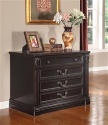 Grand Manor Palazzo Lateral File in Vintage Burnished Black Finish by Parker House - GPAL-9075