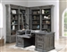 Gramercy Park 6 Piece Home Office Set in Vintage Burnished Smoke Finish by Parker House - GRAM-6