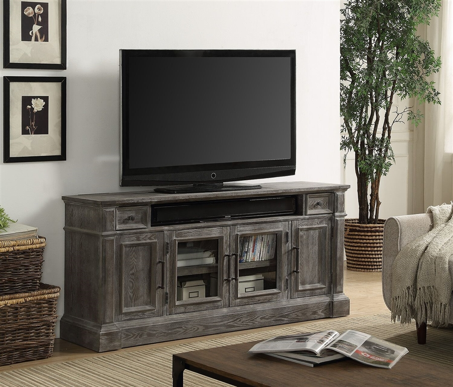 big sale 93721 a0808 Gramercy Park 65 Inch TV Console in Vintage Burnished Smoke Finish by  Parker House - GRAM-65