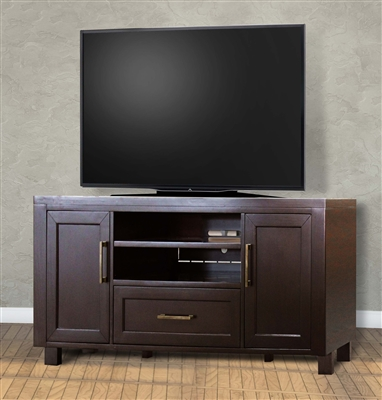 Greenwich 63 Inch TV Console in Dark Walnut Finish by Parker House - GRE-63