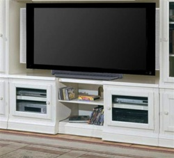 Hartford 48-72-Inch TV X-pandable Entertainment Console in Slightly Distressed Vintage White Finish by Parker House - HAR15X