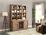 Hickory Creek 6 Piece Entertainer's Unit Bookcase Library Wall in Vintage Honey Finish by Parker House - HIC-06-ENT