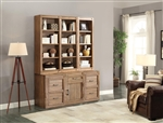Hickory Creek 6 Piece Entertainer's Unit Bookcase Library Wall in Vintage Honey Finish by Parker House - HIC-06-ENT2