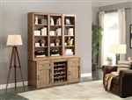 Hickory Creek 6 Piece Entertainer's Unit Bookcase Library Wall in Vintage Honey Finish by Parker House - HIC-06-ENTER