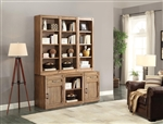 Hickory Creek 6 Piece Entertainer's Unit Bookcase Library Wall in Vintage Honey Finish by Parker House - HIC-06-ENTERU