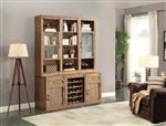 Hickory Creek 6 Piece Entertainer's Unit Bookcase Library Wall in Vintage Honey Finish by Parker House - HIC-6-ENTER