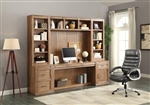 Hickory Creek 6 Piece Home Office Wall in Vintage Honey Finish by Parker House - HIC-6-OFFICE