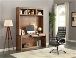 Hickory Creek 63 Inch In-Wall Desk with Power Center and Hutch in Vintage Honey Finish by Parker House - HIC-915-2