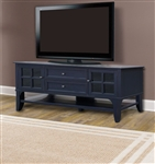 Hamilton 76 Inch TV Console in Vintage Navy Finish by Parker House - HML-76